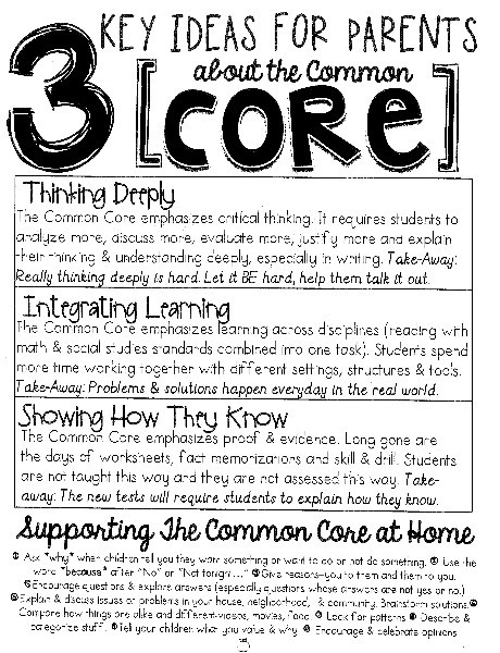 Common Core - Key Ideas for Families